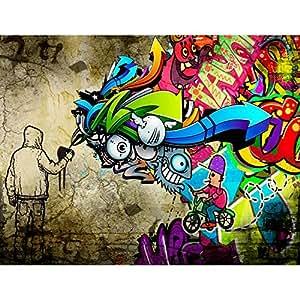 fototapete graffiti streetart vlies wand tapete wohnzimmer schlafzimmer b ro flur dekoration. Black Bedroom Furniture Sets. Home Design Ideas