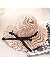 Fashion cap Sombrero de Mujer Sombrero de Pescador Sombrero de Paja Visera  de Playa monocromática Sombrero 811f8272b17