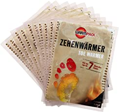 Warmpack Zehenwärmer | Schuh Wärmepads für kalte Temperaturen | Toe warmer | angenehm weiche Fußwärmer | 6 Stunden lang 38°C | 10er Pack