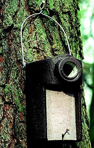 Naturschutzprodukt Star Nistkasten Nisthöhle Starenhöhle Typ 3SV Flugloch Durchmesser 45 mm mit Marderschutz aus Holzbeton Höhe 28 cm