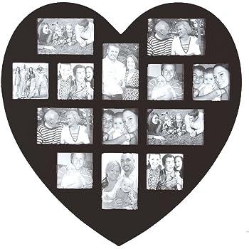 Amazon.de: Bilderrahmen II ROT Herz Fotogalerie Fotorahmen 60 x 60 ...