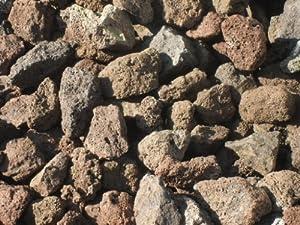25 kg (2 x 12,5 kg) Grill Lava Steine 32-56 mm - Gasgrill Elektrogrill Lavastein Lavasteine Kies Kiesel Aquarium - LIEFERUNG KOSTENLOS