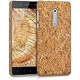 kwmobile Hülle für Nokia 5 - Backcover Case Handy Schutzhülle Kork - Hardcase Cover Hellbraun