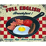 Tin Sign FULL ENGLISH BREAKFAST Kitchen House Home Gift Vintage Retro Metal Sign by Star55