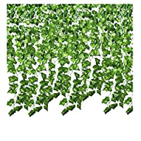 SMALUCK 24 Pack 168 Ft Artificial Ivy Garland Fake Ivy Vine Hanging Plant for Christmas Decorations Wedding Garland Fake Foliage Flowers Home Kitchen Garden Office Wedding Wall Decor
