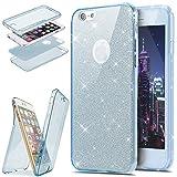HMTECH iPhone SE/iPhone 5 5S Paillette Bling Glitter Transparente Silicone TPU Housse...