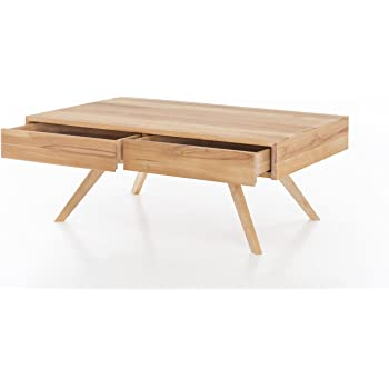 Woodlive Massivholz Couchtisch Rechteckig Aus Kernbuche Wohnzimmer