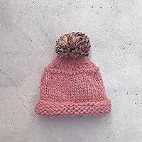 Wenxin0815 Der Herbst Und Winter Frauen Strickmütze Tipp Hut Mütze, Pink