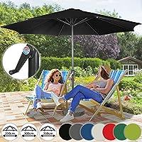 Miadomodo® Garden Umbrella Ø 9.8 ft / 3 m Patio Outdoor Waterproof Parasol Sun Shade Protection in