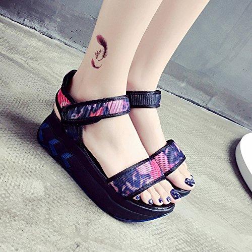Rugai-ue Magic Sandales D'été Chaussures Plates Gules