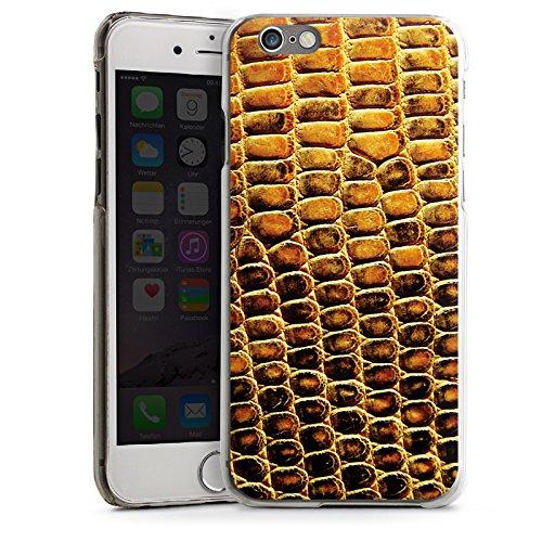 Apple iPhone 6 Housse Étui Silicone Coque Protection Peau de reptile Peau de serpent Look cuir CasDur transparent