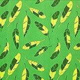 Unbekannt Softshell Federn 3 – grün — Meterware ab 0,5