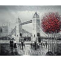 Rflkt Escena de la calle de Londres con el Tower Bridge en el río Támesis.