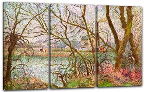 Printed Paintings Leinwand 3-teilig(120x80cm): Camille Pissarro - Bords de l'Oise, près de Pontoi -