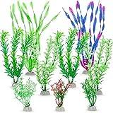 Zacro 9pcs Wasserpflanzen Künstliche Aquariumpflanzen, aquariumzubehör für Aquarium Dekorationen