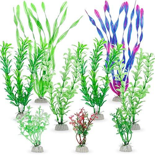 Zacro 9pcs Wasserpflanzen Künstliche Aquariumpflanzen, aquariumzubehör für Aquarium Dekorationen (Künstliche Aquarium)