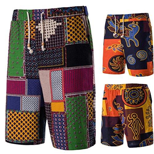 Oyedens Costume da Bagno Uomo Asciugatura Veloce Pantaloncini Sportivi da Bagno Mare Nuoto Spiaggia Leisure Travel Moda Casual Short Pantaloncini Verde
