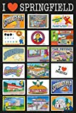 GB Eye 61x 91,5cm Die Simpsons Postkarten Maxi Poster, mehrfarbig