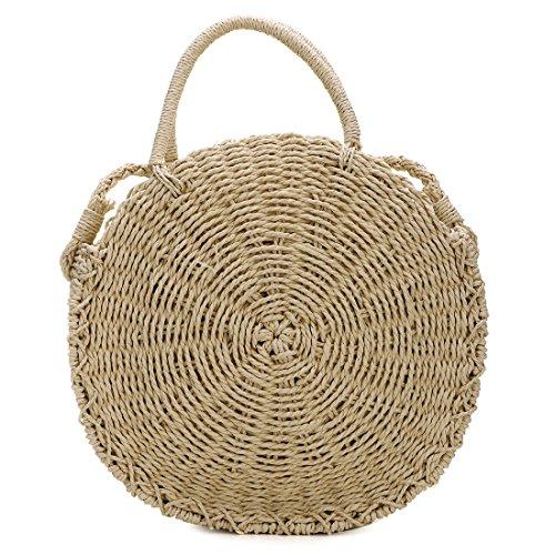 UNYU Straw Crossbody Bag - Bolso al hombro para mujer