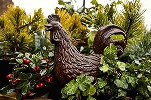 Poules sur pieds en fonte pour jardin/maison Statue