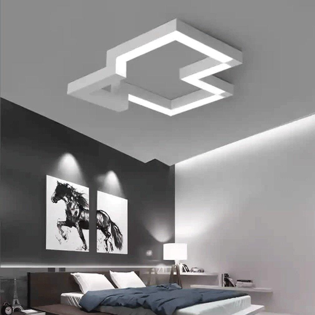 40W LED Plafoniera Moderno Acrilico Bianca Pendente Lampadario ...