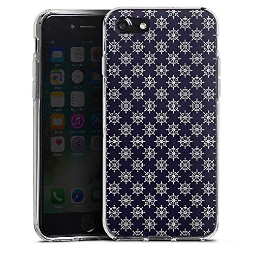 Apple iPhone X Silikon Hülle Case Schutzhülle Steuerrad Muster Matrose Silikon Case transparent