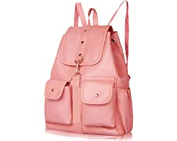 PAGWIN® PU Leather Student Backpack School Bag for Girls Travel Bag Collage Trendy Latest Stylish Girl Shoulder Backpack (Bab