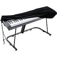 Abdeckung für Klaviertastatur, Stretch-Samt Schutzabdeckung mit verstellbaren, elastischen Schnur und Verriegeln für 61…