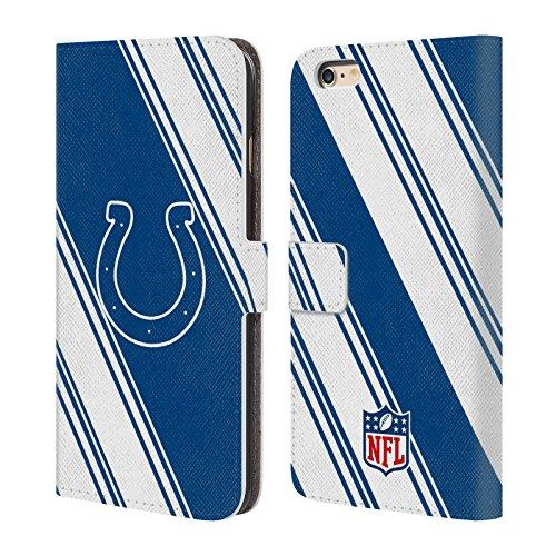Ufficiale NFL Righe 2017/18 Indianapolis Colts Cover a portafoglio in pelle per Apple iPhone 6 / 6s Righe