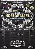 Der große Kreidetafel-Familienplaner 2019 - Bildkalender A3 - für Kreidemalstifte - nass Abwischbar