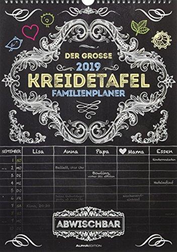 Der große Kreidetafel-Familienplaner 2019