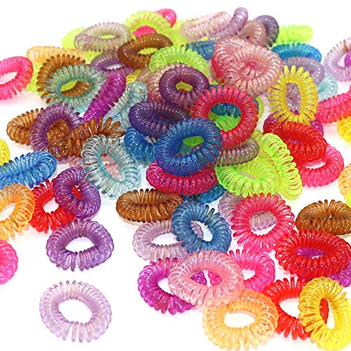 MLDFS Transparente Telefonleitung Schnur Stirnbänder Fluoreszierende Gummibänder Elastische Haarbänder Für Girs Haar Seil Krawatten Gum (Telefonleitung Schnüre)
