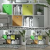 Raumteiler Mexx Bücherregal Regal Weiss Schwarz Sonoma 8 Fächer 4 x 2, Farbe:weiß, Raumteiler:8 Fächer