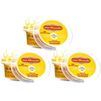Om Shanthi Wax Free Pure Cow Ghee Diya (100 Diyas) for Puja and Special Ocassions-Pack of 3