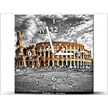 Art-Gallery XXL–30x 30cm–Le Majestueux del Coliseo–Reloj de pared cuadro–Deco moderno–New Design
