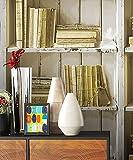 NEWROOM Tapete Beige,Creme Holzregal Holz Landhaus Vliestapete Braun Vlies moderne Design Optik Holztapete Holzwand Naturholz Vintage inkl. Tapezier Ratgeber