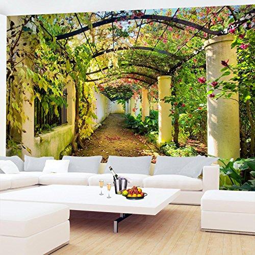 Fototapete Garten Natur 3D Vlies Wand Tapete Wohnzimmer Schlafzimmer ...