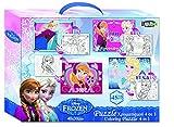 Vamos–060528–Puzzle–4in 1da colorare–2lati–Frozen/La Regina delle Nevi–4Modelli diversi–180pezzi