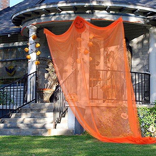 Lintimes Halloween Dekoration großes Halloween Aufhängen Ghost Party Requisiten Creepy Haunted House Escape Horror Dekoration - Orange