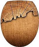 stickersnews–Aufkleber für WC-Sitz Holz