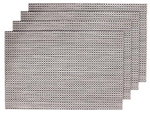 4 PZ di tovagliette americane decorative marrone metallico (TS-04), set da tavola in PVC di alta qualità, Misure 45 x 30 cm, per decorazione molto elegante e durevole tavolo cucina