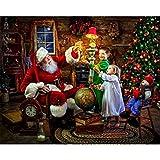Riou DIY 5D Diamant Painting Voll ,Stickerei Malerei Diamant Weihnachtsmann Muster Weihnachten Strass Stickerei Bilder Kunst Handwerk für Home Wall Decor Gemälde Kreuzstich (Mehrfarbig, 30 * 40cm)
