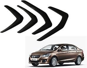 Auto Pearl O.E Type Car Bumper Protector for Maruti Suzuki Ciaz (Set of 4, Black)