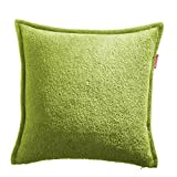 WOMETO Frottee Kissenbezug Kissenhülle grün ca. 50x50 cm 100% Baumwolle OekoTex Made in Germany