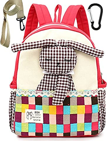 Toile Sac A Dos Enfant Fille Lapin Rouge Bambin Cartable