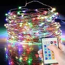Cadena de Luces, Guirnalda Luminosa, Luces de Navidad 150 LED con 8 Modos, Luces de Alambre de Cobre 15M con Control Remoto, Decoración para Navidad, Fiestas, Patio, Dormitorio, Jardines, Festivales