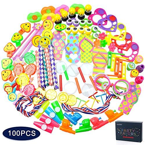 Kleinspielzeug Mix Beutel Party Favors Supplies Kindergeburtstag Geburtstagsgeschenk Taschen Radiergummi Pinata Füllstoffe Karneval Preise Schule Belohnung 100 Teile (Halloween-süßigkeiten Für Klassenzimmer)