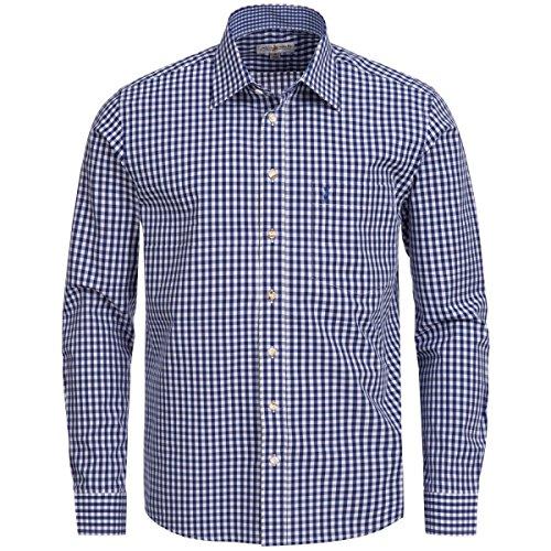 Trachtenhemd Regular Fit in Blau von Almsach, Größe:M, Farbe:Blau