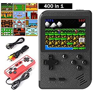 Cypin Video Game Console inkl. 400 Retro Arcade Games Handheld-Konsole 3 Zoll LCD Display Handheld-Spielkonsole TV-Anschluss Handheld Retro Videospielkonsole tragbar Spielkonsole süßes Geschenk