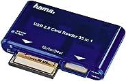 Hama kaartlezer USB 2.0-35-in-1 (kaartlezer, kaartlezer SD/SDHC/SDXC, CF, microSD/SDHC/SDXC, USB 2.0) blauw